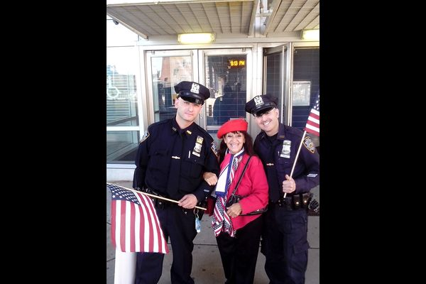 Rosemary Reder with NYPD